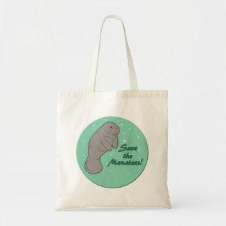 Sauvez les lamantins ! sac de toile
