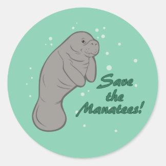 Sauvez les lamantins ! sticker rond
