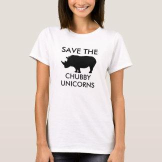 Sauvez les licornes potelées t-shirt