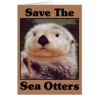 Sauvez les loutres de mer carte de vœux