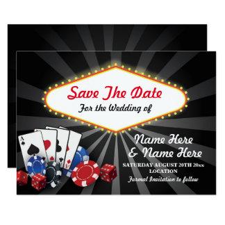 Sauvez les matrices de cartes de casino de Las