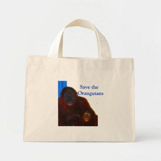Sauvez les orangs-outans mini tote bag