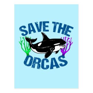 Sauvez les orques mignonnes cartes postales