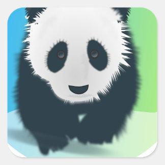 Sauvez les pandas sticker carré