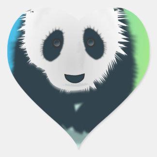 Sauvez les pandas sticker cœur