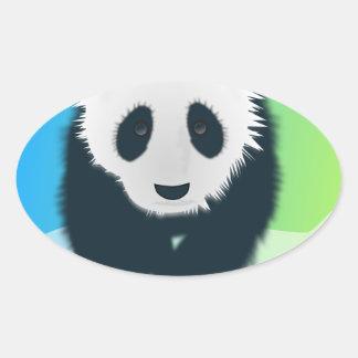 Sauvez les pandas sticker ovale