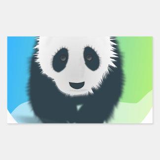 Sauvez les pandas sticker rectangulaire