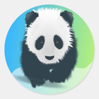 Sauvez les pandas sticker rond