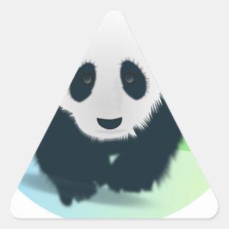 Sauvez les pandas sticker triangulaire