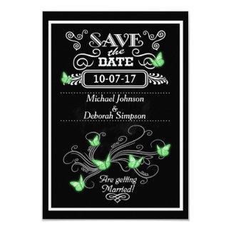 Sauvez les papillons de vert de tableau de cartes carton d'invitation 8,89 cm x 12,70 cm