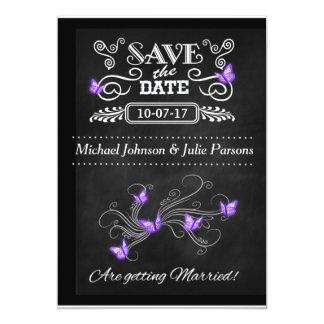 Sauvez les papillons vintages de tableau de cartes carton d'invitation  12,7 cm x 17,78 cm