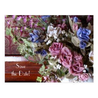 Sauvez les quarantième fleurs de cru de fête carte postale