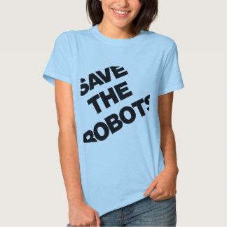 Sauvez les robots après le club NYC d'heures T-shirts
