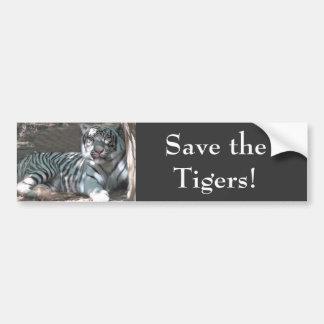 Sauvez les tigres autocollant pour voiture