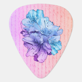 Sauvez l'illustration bleue de fleur de rose de onglet de guitare