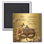 Sauvez l'or de mascarade du bonbon 16 à Quinceaner Aimant Pour Réfrigérateur