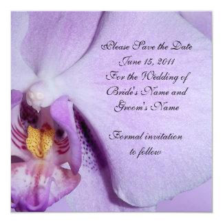 Sauvez l'orchidée de faire-part de mariage de date
