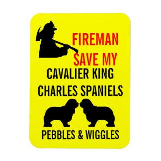 Sauvez mes deux chiens cavaliers d'épagneul du Roi Magnet Flexible