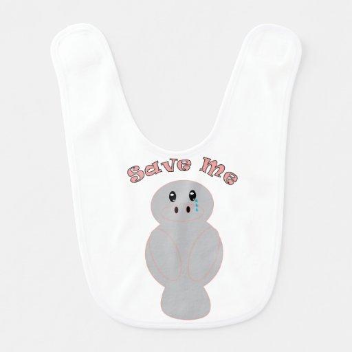 Sauvez-moi (le lamantin) bavoirs pour bébé