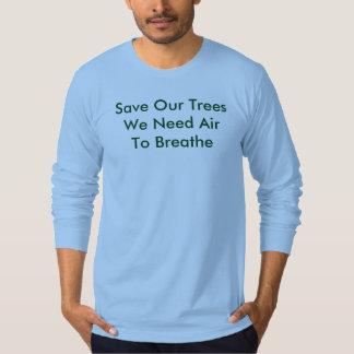 Sauvez nos arbres, T-shirt de bleu de ciel