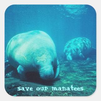 Sauvez nos autocollants de lamantins