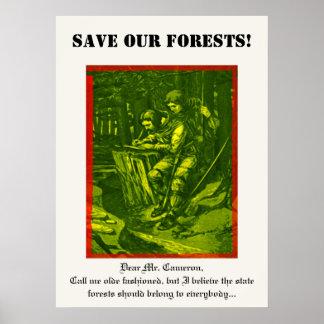 Sauvez nos forêts posters