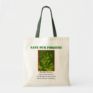 Sauvez nos forêts ! sac en toile budget