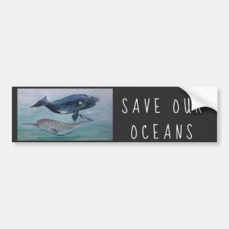 Sauvez notre autocollant d'océans