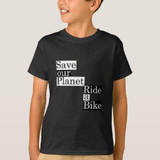Sauvez notre planète, montez un vélo t-shirt