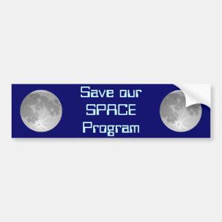 Sauvez notre programme spatial autocollant pour voiture