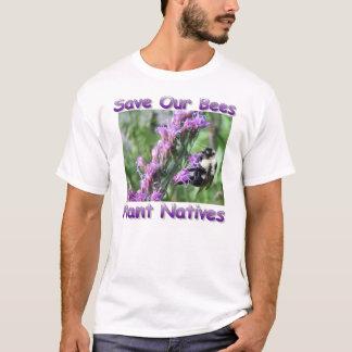 Sauvez notre T-shirt de fleur sauvage d'abeilles