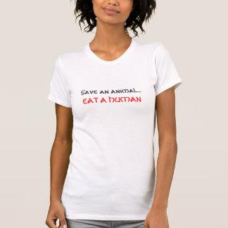 sauvez un animal mangent un humain t-shirt