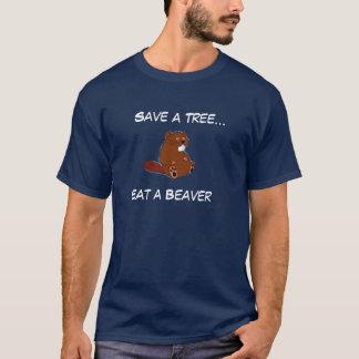 Sauvez un arbre…, mangez un castor t-shirt