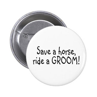 Sauvez un tour de cheval un marié badge