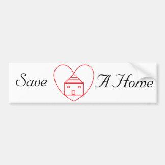 Sauvez une maison adhésifs pour voiture