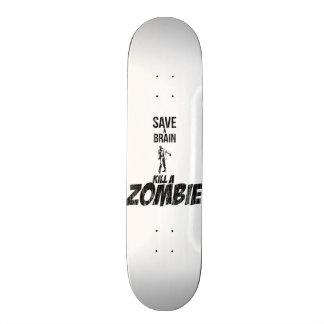 Sauvez une mise à mort de cerveau un zombi skateboards cutomisables