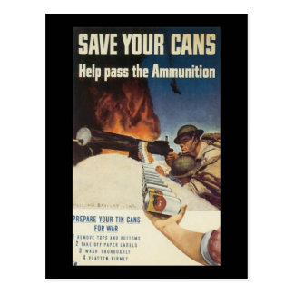 Sauvez votre guerre mondiale de boîtes 2 cartes postales