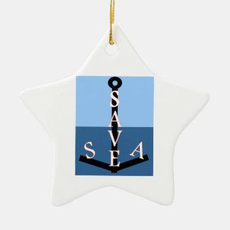 sauvons la mer ornement étoile en céramique