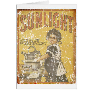 Savon de lumière du soleil - 1873 - affligé carte de vœux