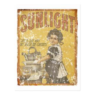 Savon de lumière du soleil - 1873 - affligé carte postale