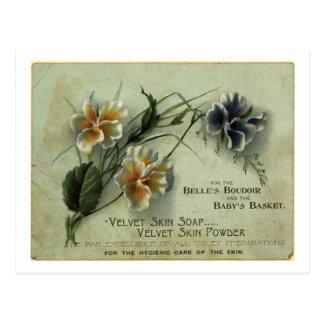 savon de peau de velours carte postale