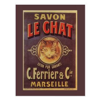 Savon français vintage de Savon Le Chat Fine Carte Postale