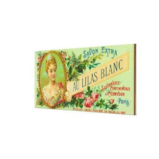 Savon LabelParis, France de Lilas Blanc d'Au Toile Tendue