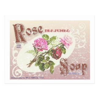 Savon rose affligé carte postale