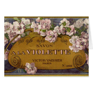 Savon une carte de voeux de Violette de La