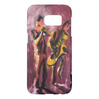 Saxo and trumpet paire coque samsung galaxy s7