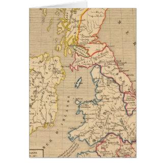 Saxons de DES de l'invasion d'apres de la Bretagne Carte De Vœux
