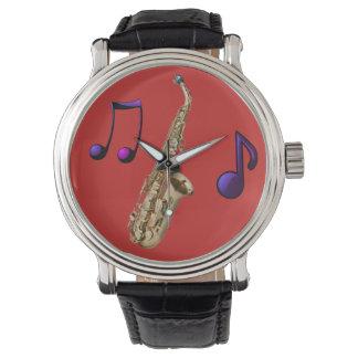 Saxophone ambiance jazz montres cadran