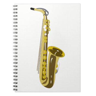 Saxophone Carnet À Spirale