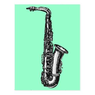 Saxophone d'alto carte postale